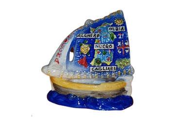 Immagine di Barchetta piccola Sardegna in ceramica