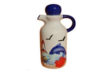 Immagine di Bottiglia ceramica con delfino Sardegna