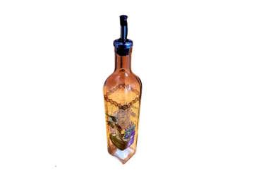 Immagine di Bottiglia in vetro con disegno H 30cm