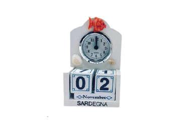 Immagine di Calendario + orologio da tavolo Sardegna