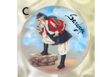 Immagine di Magnete piattino personaggio Sardo 7cm S/6 - C