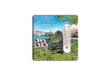 Immagine di Magnete in ceramica Sardegna con termometro