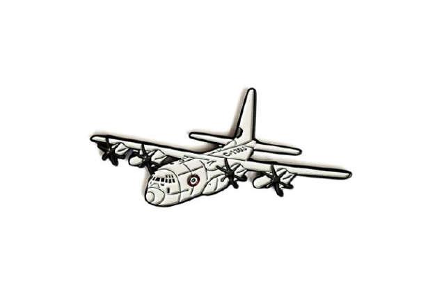 Immagine di MAGNETE IN METALLO SMALTATO C130J HERCULES AERONAUTICA MILITARE