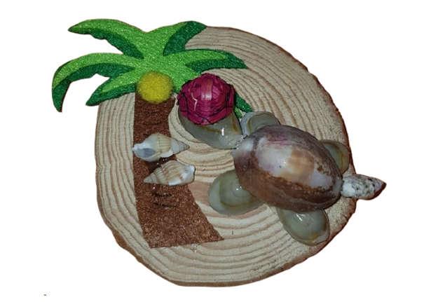 Immagine di Magnete in resina e legno tartaruga modelli assortiti