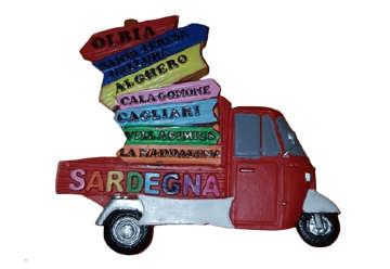 Immagine di Magnete Apecar Sardegna in resina