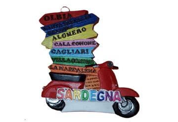 Immagine di Magnete Vespa cartelli Sardegna in resina