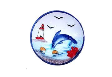 Immagine di Piattino ceramica con delfino