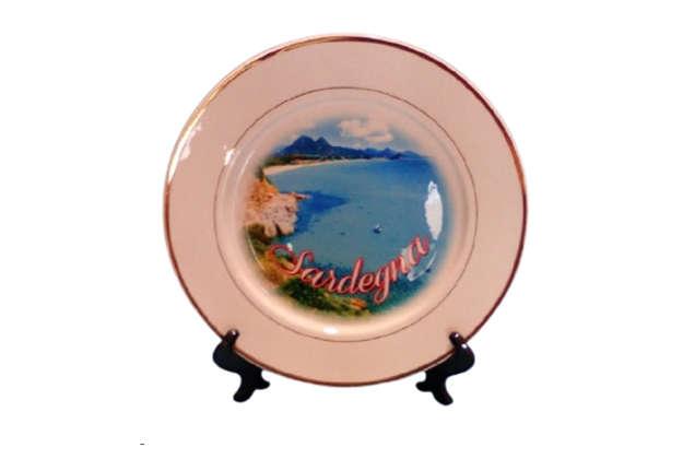 Immagine di Piatto ceramica con oro Sardegna 25cm