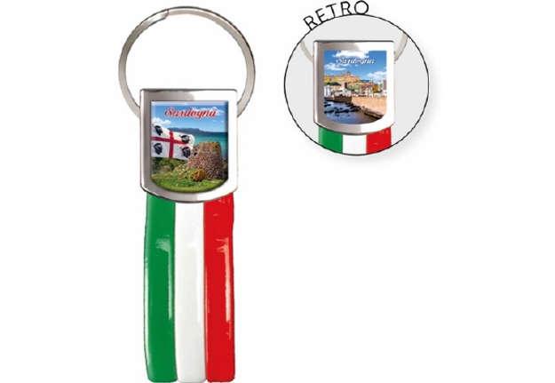 Immagine di Portachiavi Sardegna + bandiera Italia
