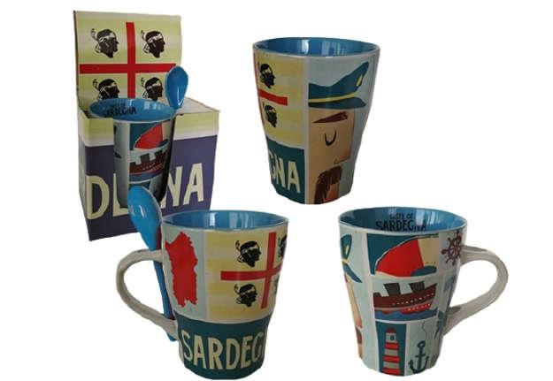Immagine di Mug con cucchiaino Sardegna