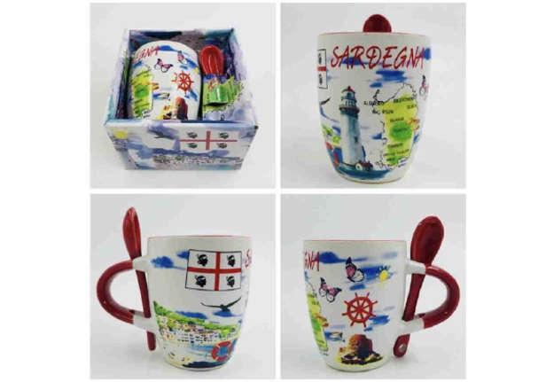 Immagine di Tazzina mug Sardegna con cucchiaino