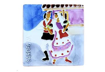 Immagine di Mattonella ceramica coppia Sardegna