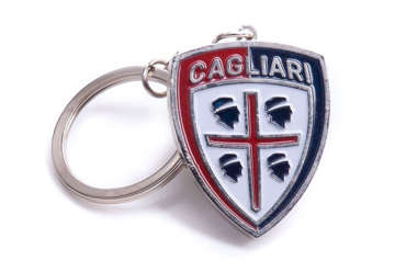 Immagine di Portachiavi scudo smaltato Cagliari 1920