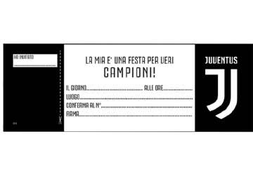 Immagine di Invite a festa Juventus - Blocchetto da 20pz