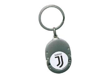 Immagine di Portachiavi Juventus con moneta sgancia carrello
