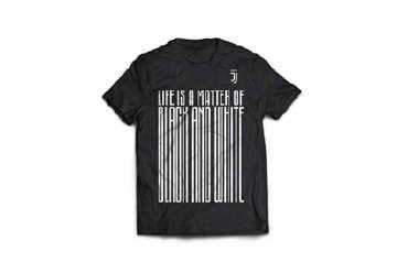 "Immagine di T-Shirt Juve nera ""Black and White"" M"