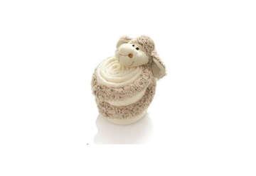 Immagine di Pecora di lana con coperta pile 30 cm color crema