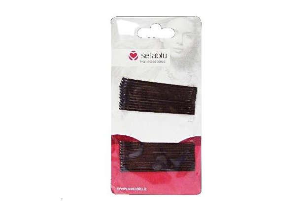 Immagine di Fermacapelli lunghi lisci 24pz nero