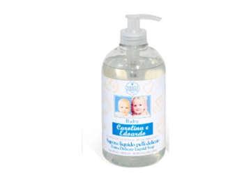 Immagine di Sapone liquido - Baby Carolina & Edoardo - Flacone dispenser 500ml