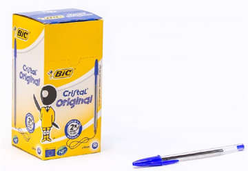 Immagine di Bic cristal original medium blu 50pz
