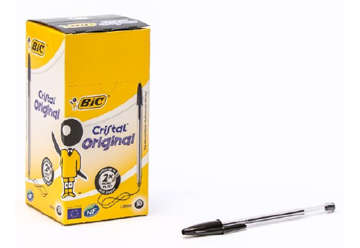 Immagine di Bic cristal original medium nero 50pz