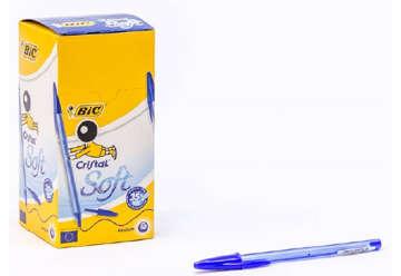 Immagine di Bic cristal soft blu 50pz
