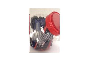 Immagine di Barattolo 100 penne colore: rosso, nero, blu