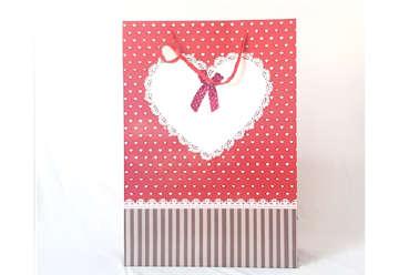 Immagine di Shopper in carta cuore 70x50x20cm