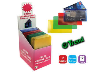 Immagine di Porta carte cristalcard color 80pz