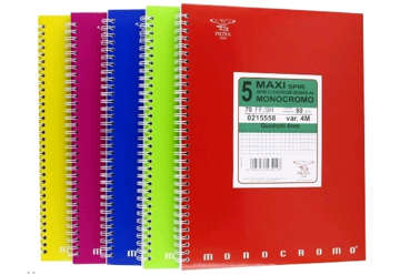 Immagine di Quaderno A4 Monocromo con spirale quadretti 5M