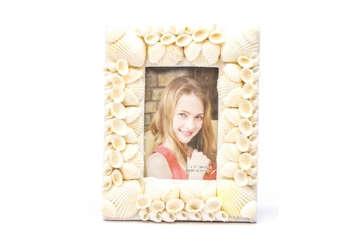 Immagine di Portafoto con conchiglie bianche 9x13cm