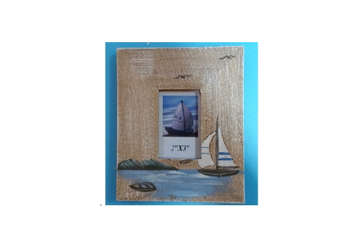 Immagine di Portafoto legno marrone 14.5x12x1cm