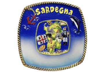 Immagine di Piatto con piedistallo Sardegna