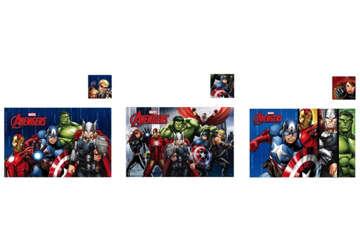 Immagine di Tovaglietta + sottobicchiere plastificato Avengers 43x28cm