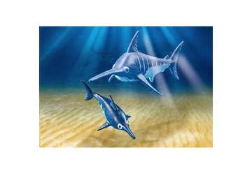 Immagine di Pesce spada con cucciolo