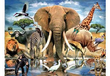 Immagine di Puzzle 3D African oasis 500pz