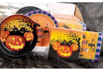 Immagine di Piatti carta Halloween 10pz