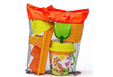 Immagine di Set secchiello mare in borsa rete