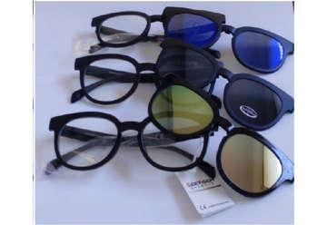 Immagine di Occhiali sole unisex lenti trasparenti + lenti sole col.assortiti