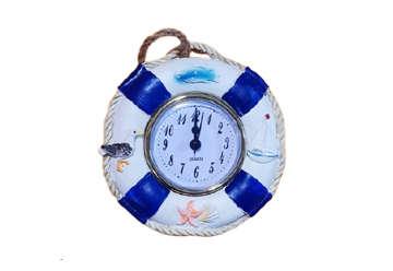 Immagine di Salvagente in resina con orologio