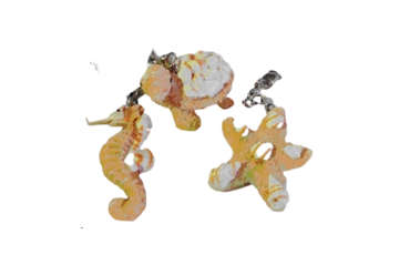 Immagine di Portachiavi soggetti marini resina