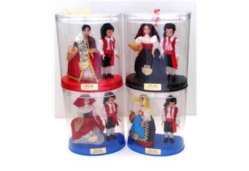 Immagine di Coppia bambole in vestito Sardo 13cm