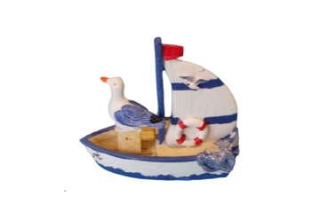 Immagine di Barca resina con gabbiano modelli assortiti