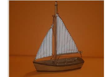 Immagine di Barca a vela in legno 21cm