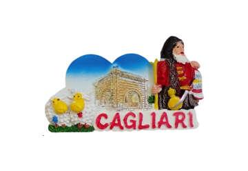 Immagine di Magnete cuore con pastore Cagliari