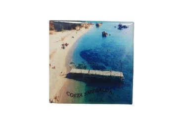 Immagine di Magnete Ceramica Costa Smeralda capriccioli 5x5