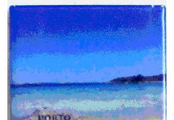Immagine di Magnete Ceramica Porto Rotondo spiaggia ira 5x5cm