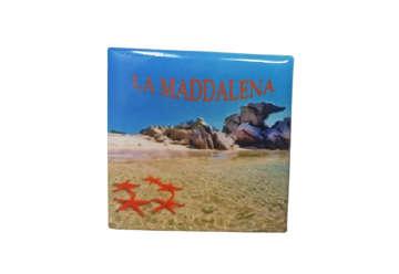 Immagine di Magnete Ceramica La Maddalena 5x5cm