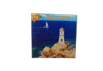 Immagine di Magnete Ceramica Porto Cervo 5x5cm