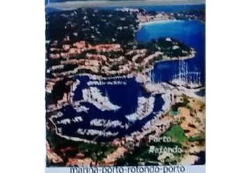 Immagine di Magnete Ceramica Porto Rotondo 5x5cm